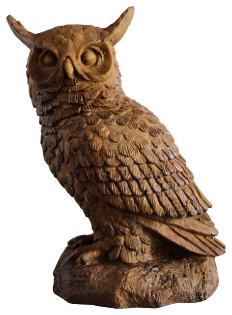 Hoot Owl Garden Statue