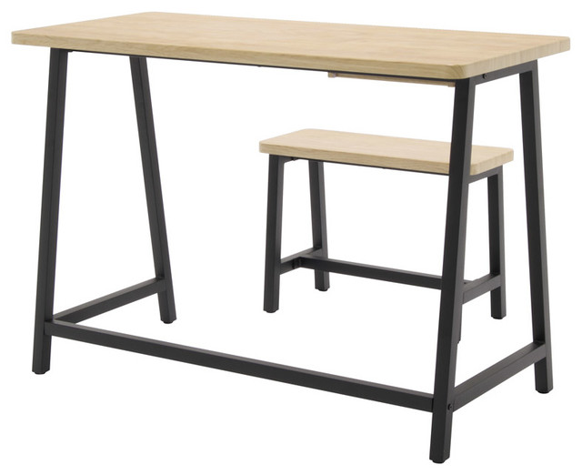 Ashwood Homeroom Desk And Bench Ashwood And Graphite