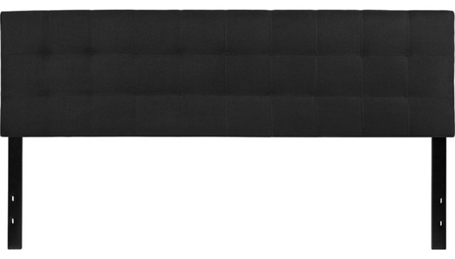 Bedford Tufted Upholstered Headboard, Black, King.