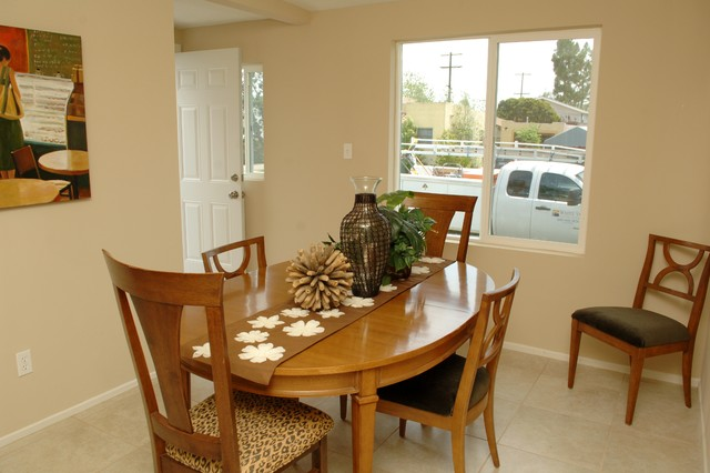 Elegant dining room photo in Orange County