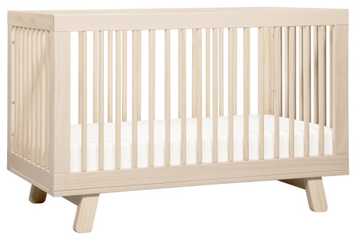 Hudson 3-in-1 Convertible Crib With Toddler Bed Conversion Kit, Washed Natural