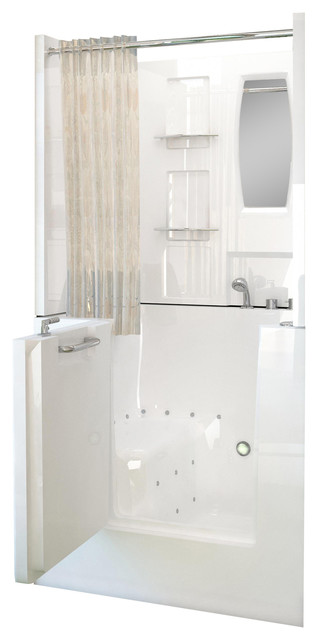Venzi Bathing 31x40 Right Drain White Air Jetted Walk In.