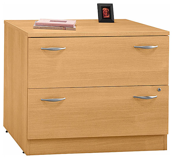 Lateral File Cabinet in Light Oak, Series C - Contemporary - Filing Cabinets - by ShopLadder
