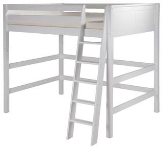 Bismark Loft Bed, White, Full