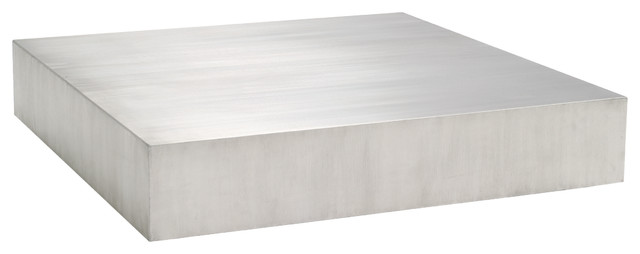 Ordinaire Siren Stainless Steel Coffee Table, Silver