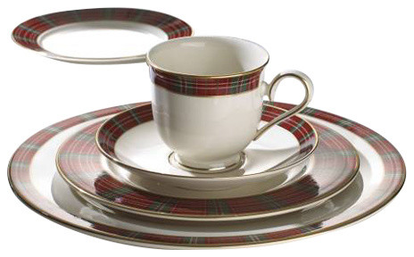 Winter greetings plaid 5 piece place setting rustic dinnerware winter greetings plaid 5 piece place setting m4hsunfo