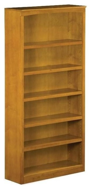 72 in. Bookshelf in Caramel Latte Finish by the Atlantic Furniture