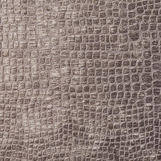 Grey Alligator Print Shiny Woven Velvet Upholstery Fabric