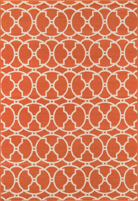 Baja Indoor/outdoor Rug, Orange, 5&x27;3x7&x27;6.
