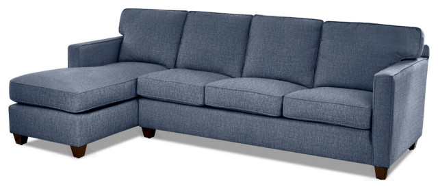 Carter Down Blend Sofa Chaise Sectional