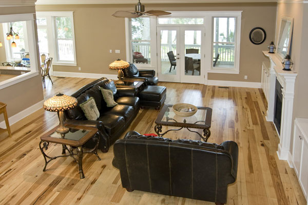 Hickory Floors With White Trim