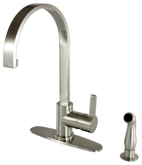 nickel pull down sprayer kitchen faucets contemporary kitchen faucets