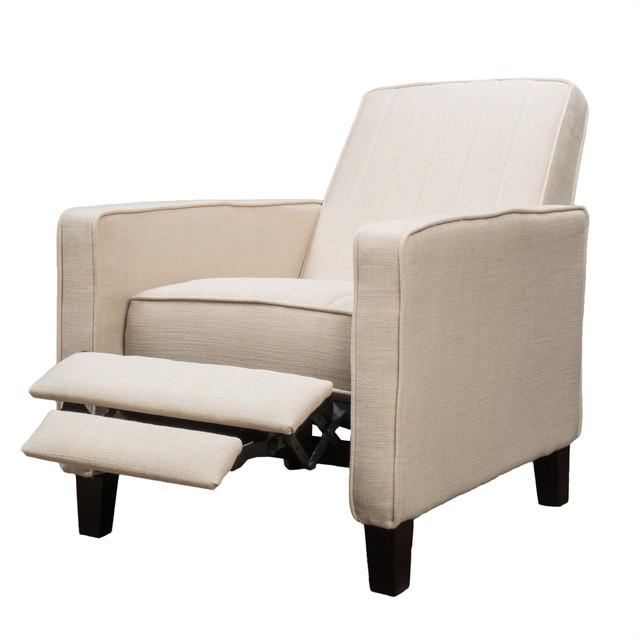Nathan Fabric Club Chair Recliner Beige