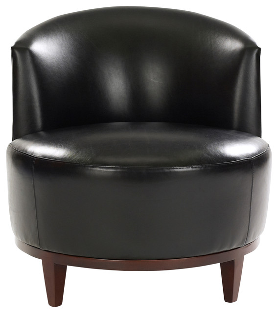 Macfee Armless Leather Chair   Armchairs And Accent Chairs   By  Leathercraft Inc