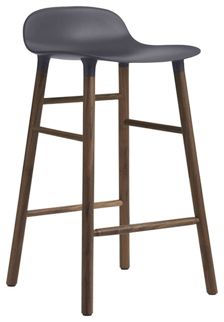 form scandinavian barstool with walnut frame small scandinavian bar stools and kitchen. Black Bedroom Furniture Sets. Home Design Ideas