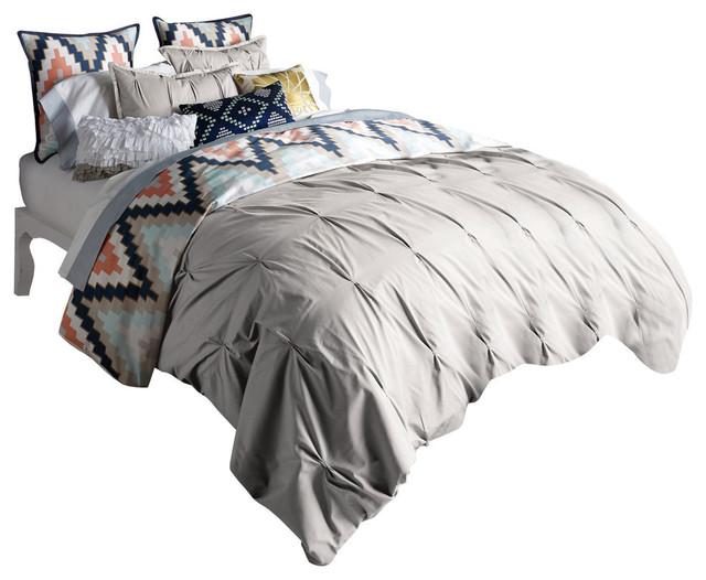 Beautiful Harper Duvet Set, Grey, Full. Queen Contemporary Duvet Covers And