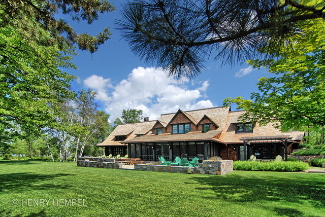 Annandale Lake Home Rustic Exterior Other By Vercon Inc