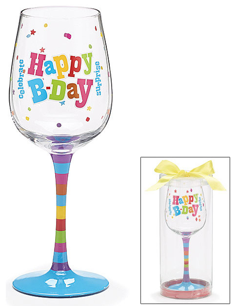 Happy Birthday Wine Glass Decorative Cup Cute And Fun