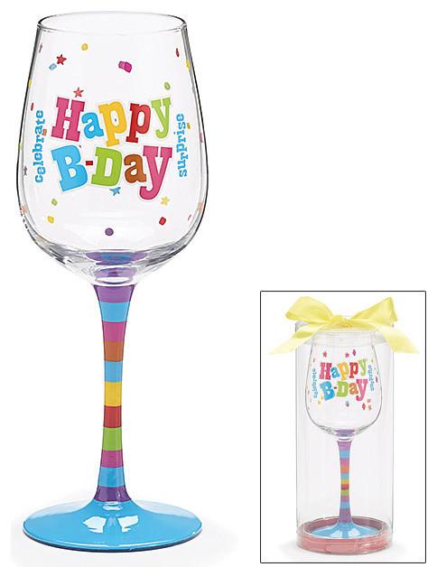 happy birthday wine glass decorative cup cute and fun for bday celebrations - Happy Birthday Wine Glass