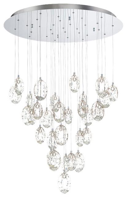 Eurofase Chandelier: Eurofase 26247-014 Hazelton 31 Light Chandelier chandeliers,Lighting