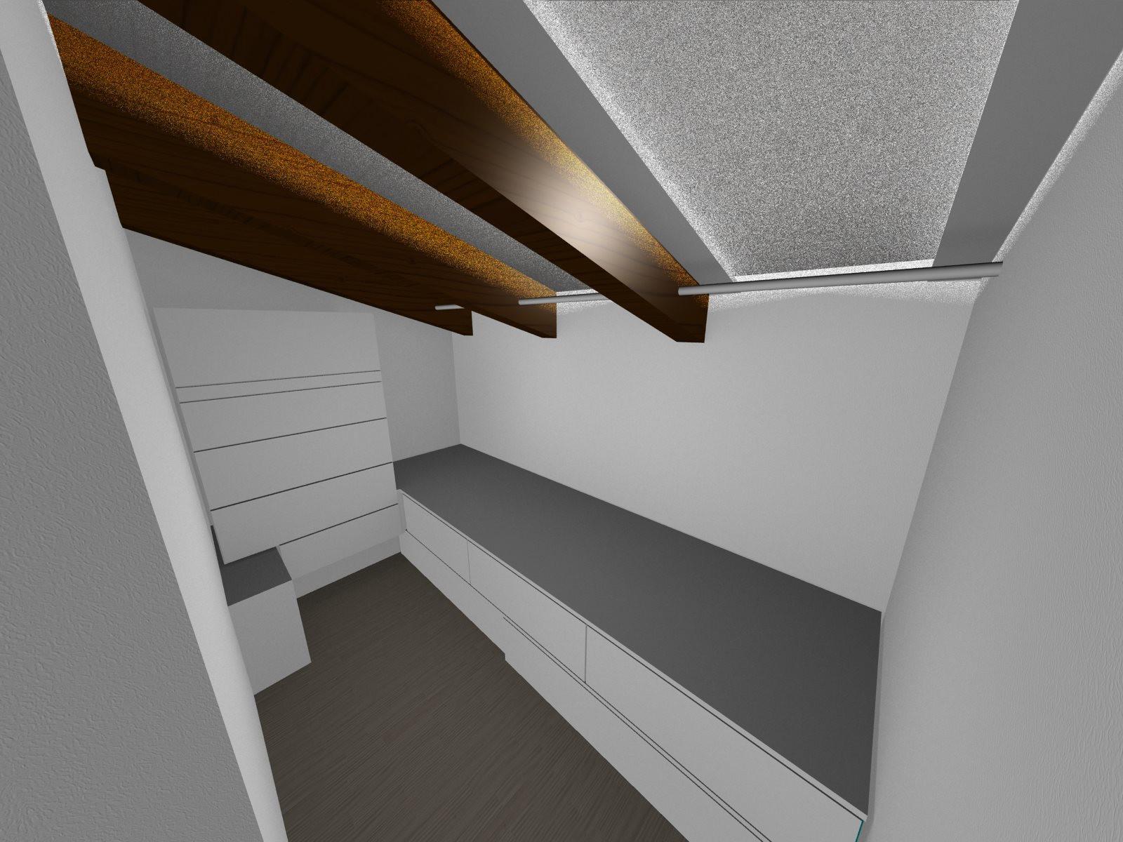 17.151 Progettazione interior camera da letto M&L