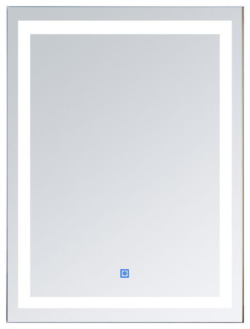 "HomCom LED Wall Mount Bathroom Vanity Make Up Mirror With Defogger, 36""x28"""