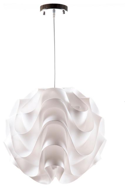 Wave Pendant L& White Small contemporary-pendant-lighting  sc 1 st  Houzz & Wave Pendant Lamp - Contemporary - Pendant Lighting - by Control Brand azcodes.com
