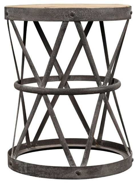Everett Side Table Industrial Side Tables And End