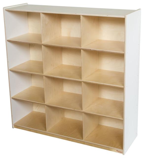 Wood Designs 12 Big Cubby Storage In White Modern