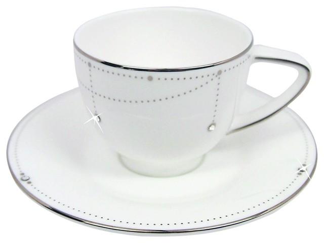 Prouna Best Wishes Ii Espresso Cup Saucer 2 Oz