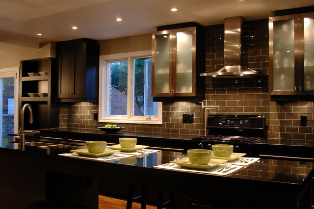 Dark Modern Country Kitchen dark elegance kitchen
