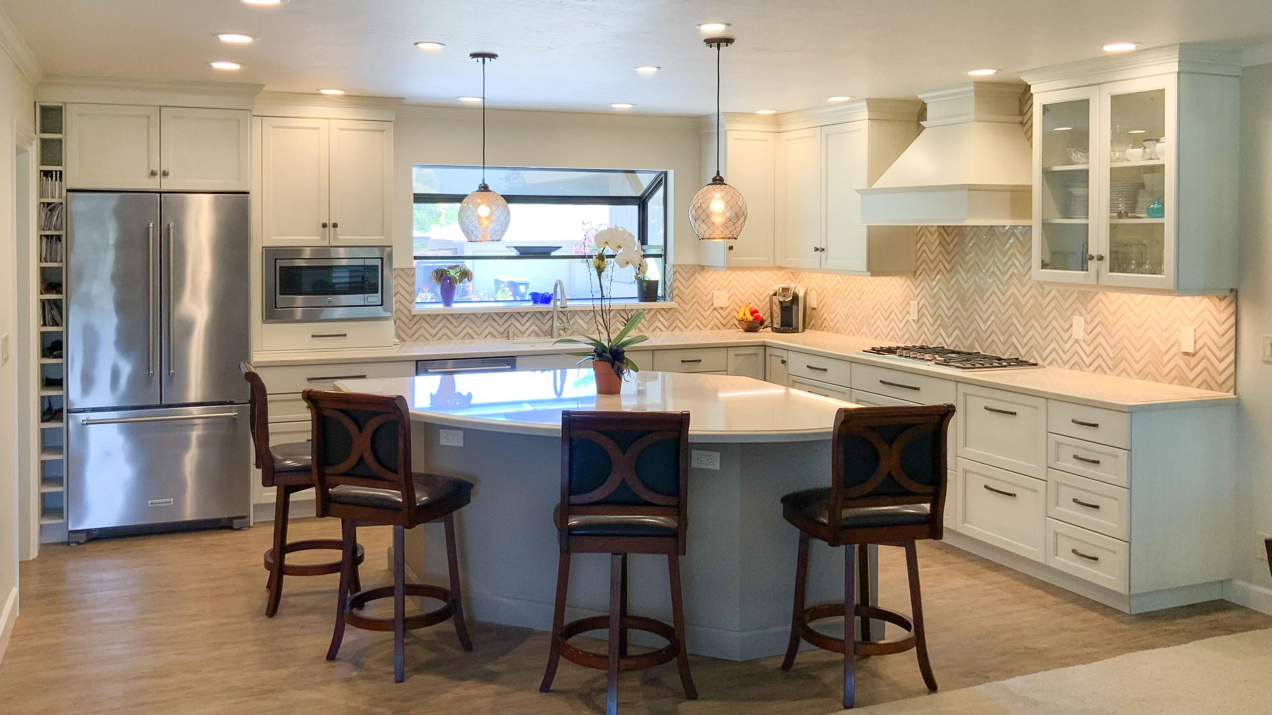 Kitchen with Unique Island