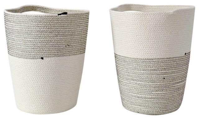 Cotton Rope Pot, Set of 2