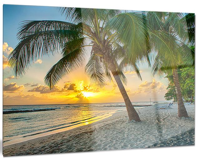 Beach in Caribbean Island of Barbados\
