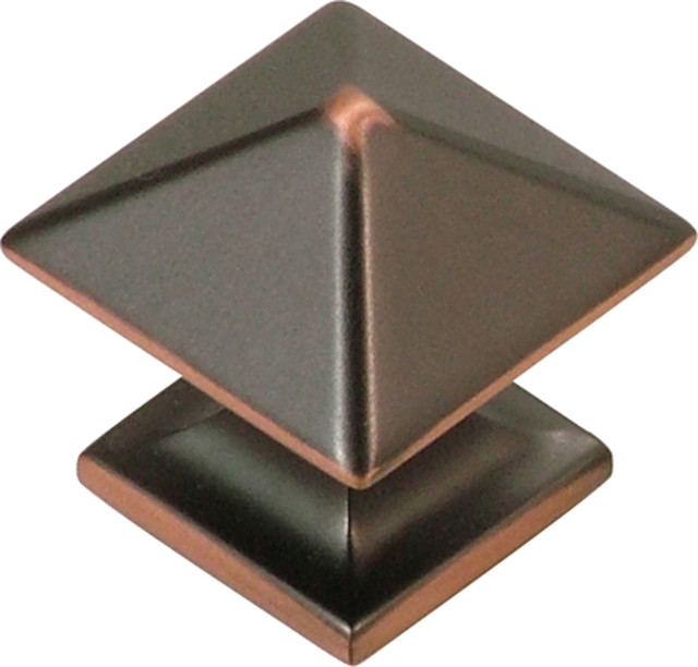 "Square Studio Collection Cabinet Knob, 1"" - Cabinet And Drawer Knobs - by Simply Knobs And Pulls"