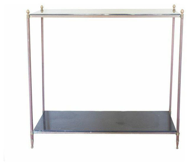 Marble and Brass Console Table - $600 Est. Retail - $400 on Chairish.com