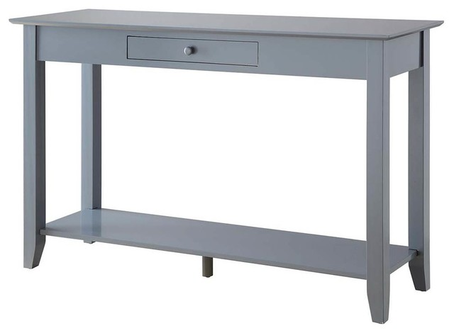 Classic Console Table, Gray Finish.