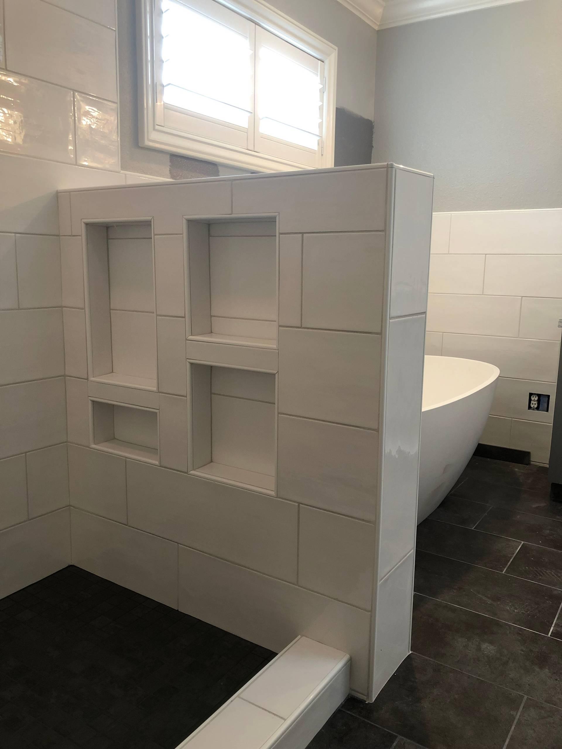Large-Format Subway Tile, Master Bath