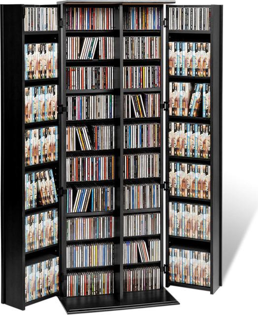 Prepac Black Large Deluxe Storage With Locking Shaker Doors.