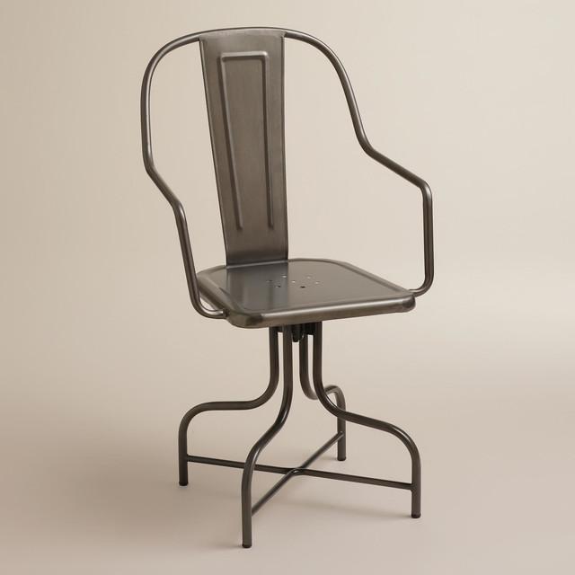Celia Metal Swivel Chair