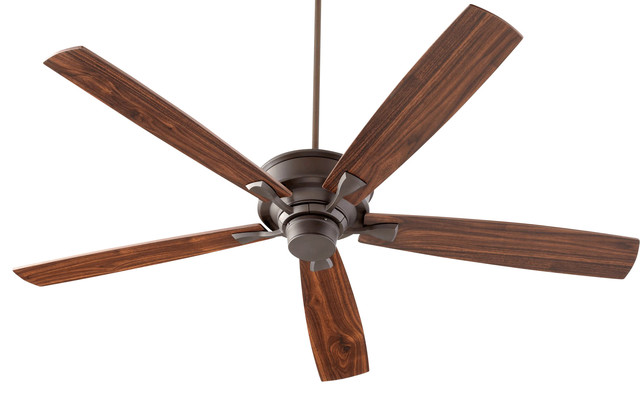Alton 70 Transitional Ceiling Fan, Oiled Bronze, Walnut.