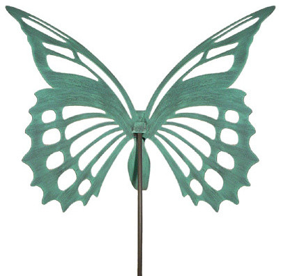 Giant Butterfly Garden Stake/Sculpture, Verdi Green