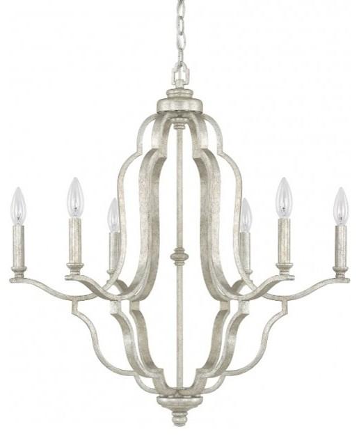 Capital Lighting 4946as 000 Blair 6 Light Chandelier Antique Silver