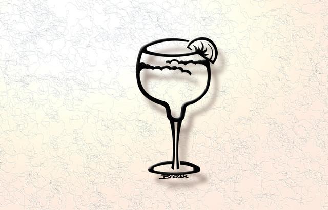 3D Margarita Glass - Wall Decor - Metal Wall Art - Contemporary ...