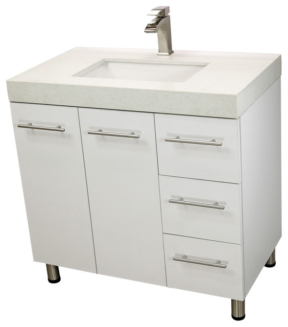 Windbay Free Standing Bathroom Vanities Sink Ebony Modern - Modern free standing bathroom vanities
