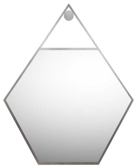 "Polygon Reflected Mirror, 30x30""."