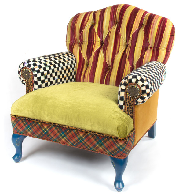 The Royals Club Chair | MacKenzie Childs Eclectic Armchairs And Accent