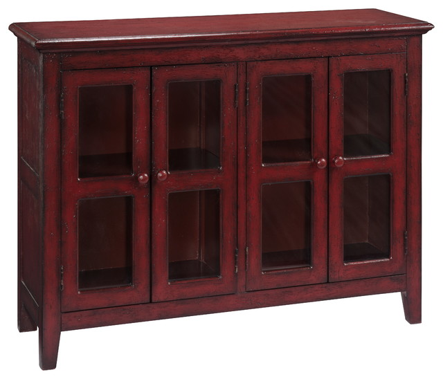 Four Door Credenza, Lincoln Court Texture Red transitional-buffets-and- sideboards - 4-Door Credenza - Transitional - Buffets And Sideboards - By