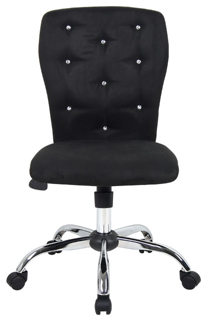 Loma Microfiber Rolling Office Chair, Black