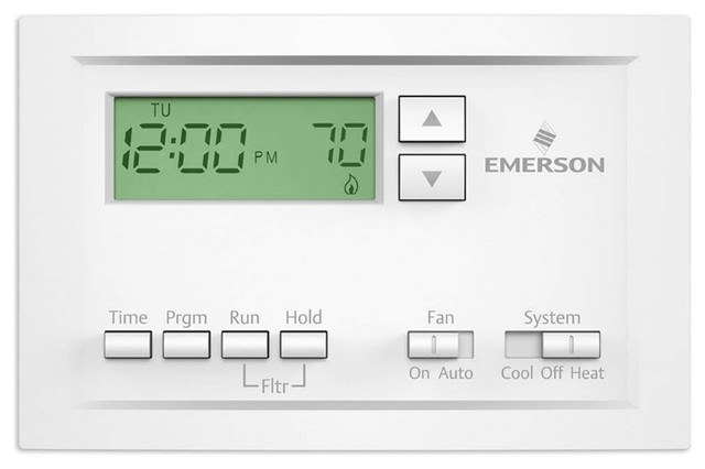 Emerson P210 Programmable Thermostat, Single Stage, 5-1-1